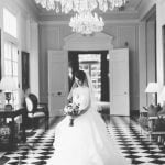 A bride in the foyer