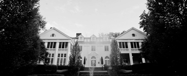 Duke Mansion Black & White Photo