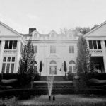 Duke Mansion Black & White Photo