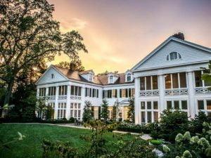 Sunset over Duke Mansion