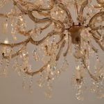 Close-up shot of a chandelier.