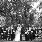 A wedding party at Duke Gardens