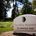 Front Sign for Duke Mansion 400 Hermitage Road