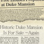 historic newspaper articles for Duke Mansion