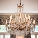 A gorgeous hanging chandelier