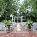 Outdoor seating arrangement for a wedding